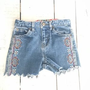 18-24mo Embroidered Side Baby Shorts